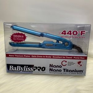 "BaByliss Pro Nano 1"" Travel Hair Straightener New"